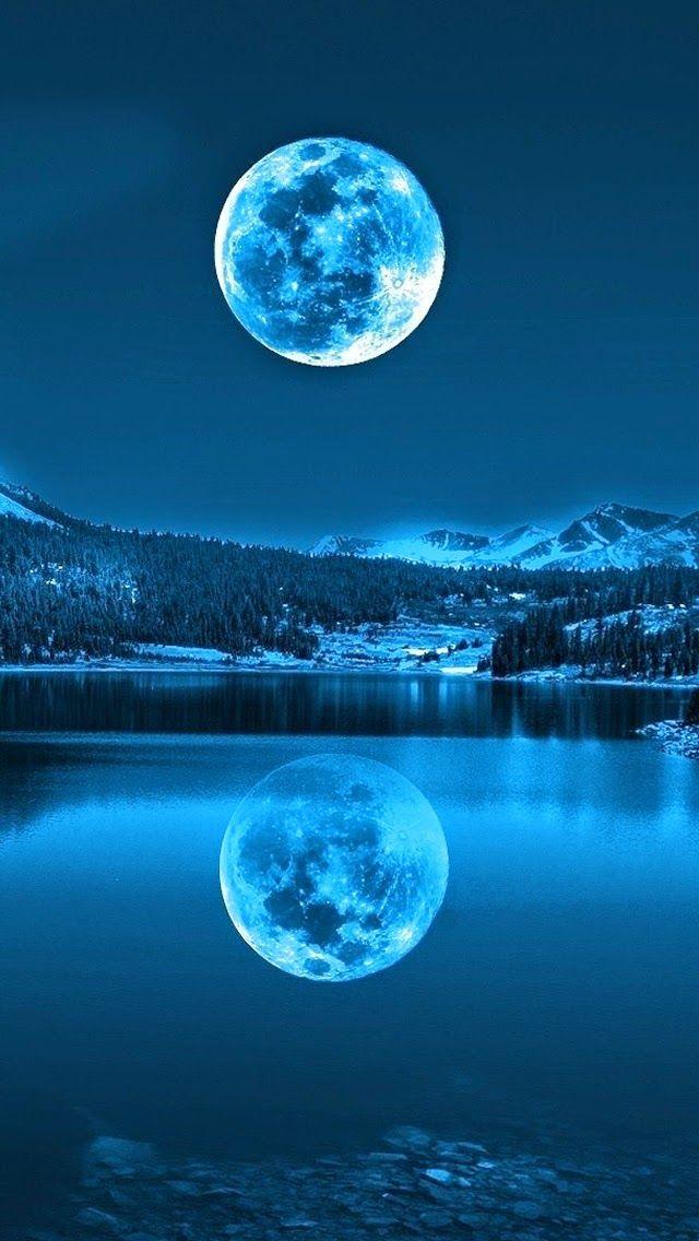 lune dans le froid Lacs Fonds d'écran iPhone 5s