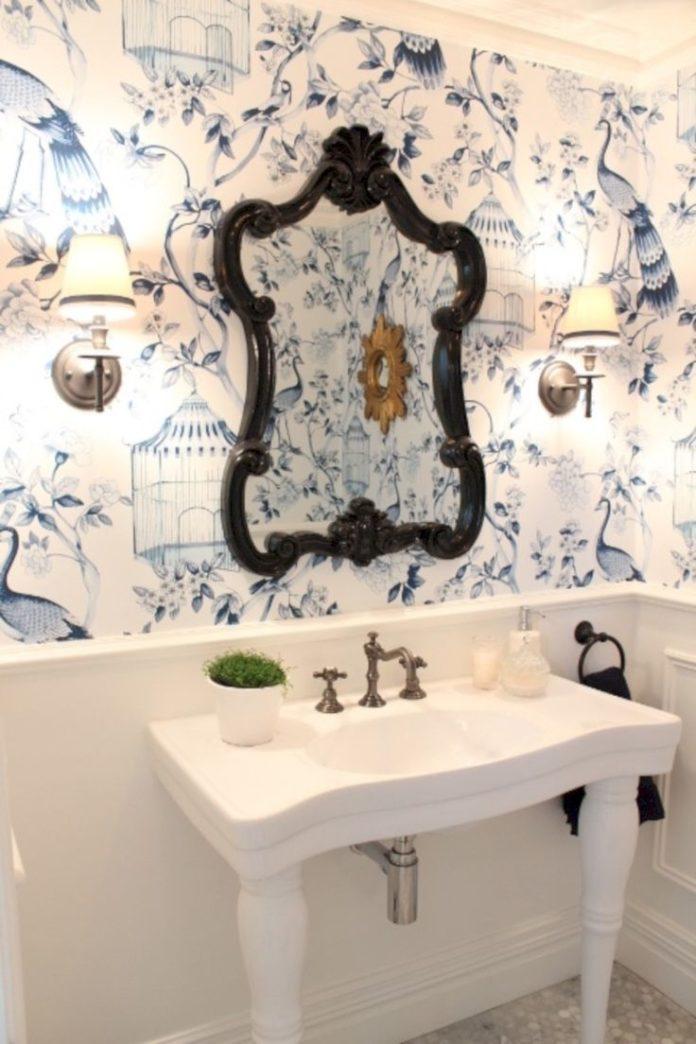 31 Amazing Small Bathroom Wallpaper