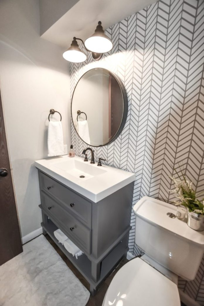 Dark and Dated to Bright and Modern - Powder Bath Remodel