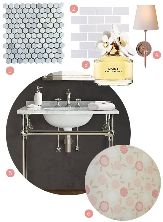 Get the Look: Wallpapered Bathroom