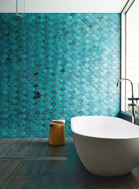 La belleza y estilo de los azulejos en escama de pez