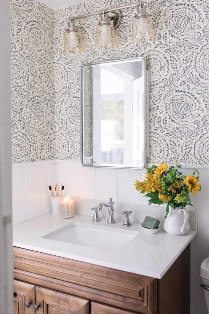Modern Farmhouse Style Bathroom Makeover Reveal