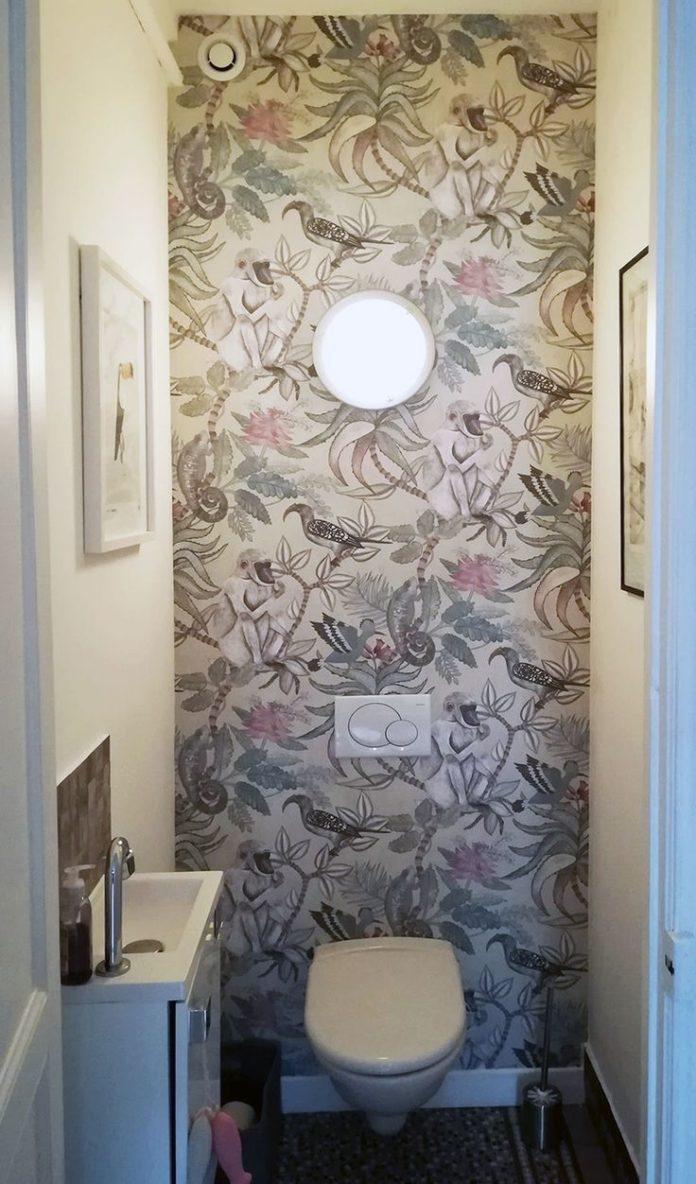 Papier peint Savuti - Animaux et flore exotique aux tons doux