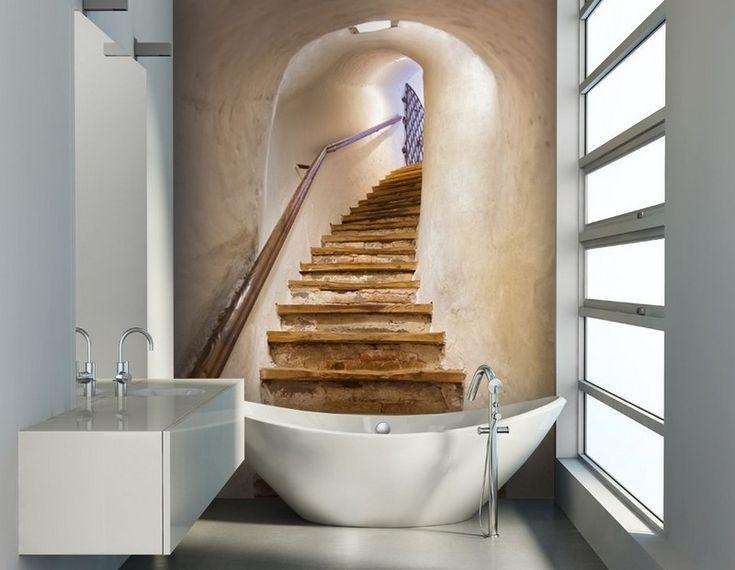 Bathroom Wallpapers Inspiration : Papier peint salle de bain moderne ...
