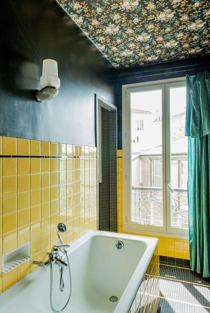 Bathroom Wallpapers Inspiration : Salle de bain déco vintage et ...