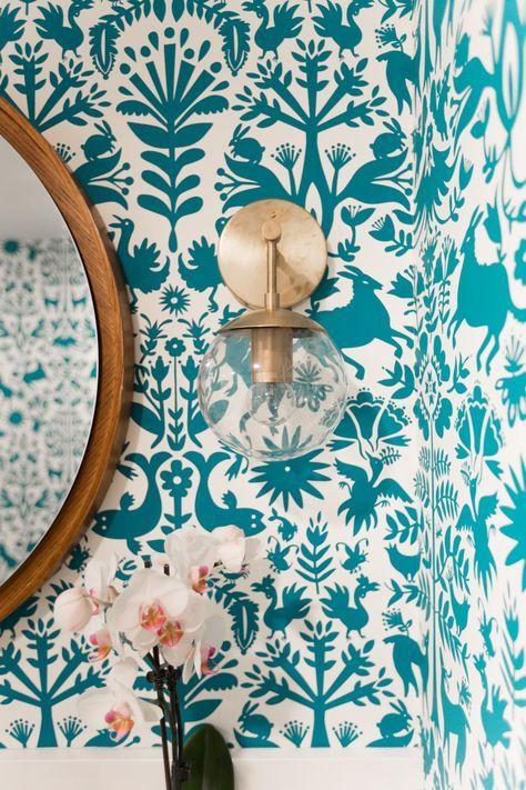 W&D Renovates - A Pattern Happy Basement Bathroom