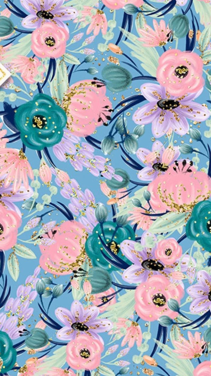 Floral pastel with hint of gold