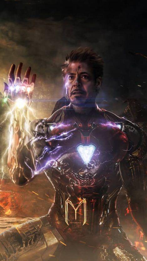 Iron Man Snap iPhone Wallpaper