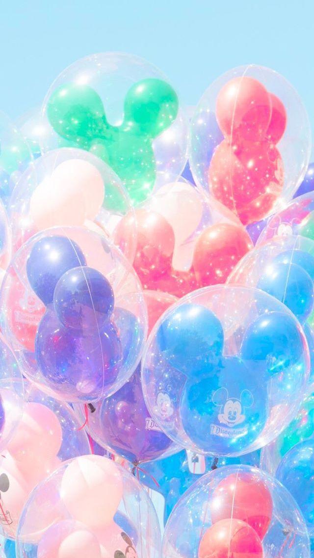 Matt Crump photography iPhone wallpaper Pastel Disney balloons