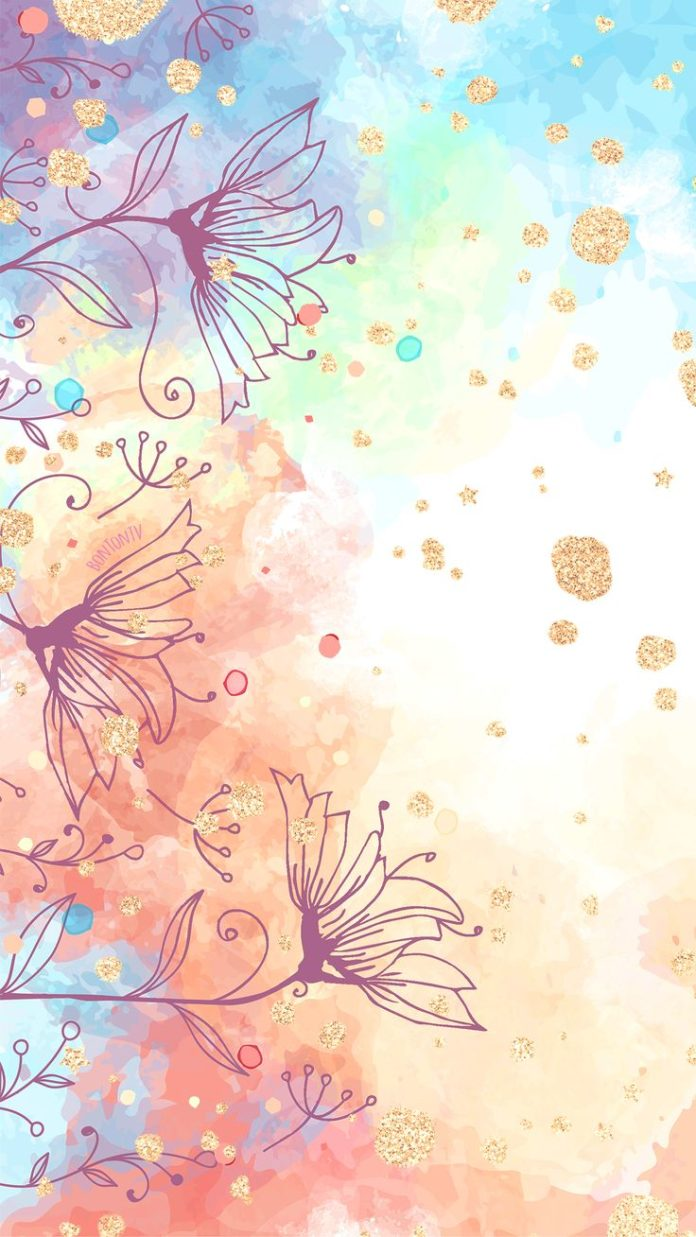 Phone Wallpapers HD Watercolor Gold - by BonTon TV - Free Backgrounds 1080x1920 ...