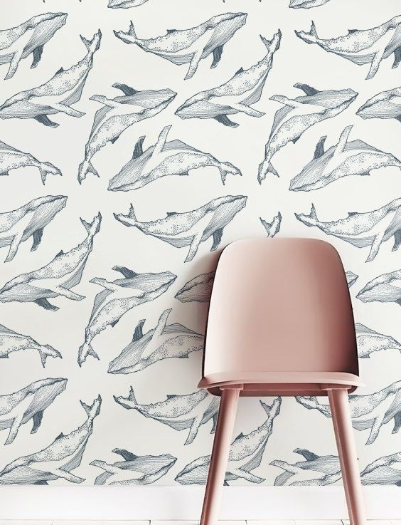 Baleine grise fond décran fond décran amovible papier par Jumanjii