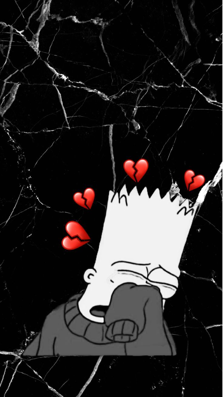 Iphone Wallpaper Bart Simpson Crying Marble Wallpaper