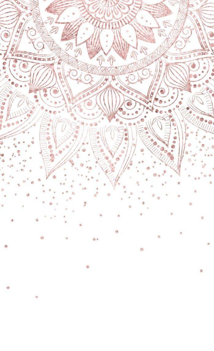 Elegant rose gold mandala confetti design Window Curtains