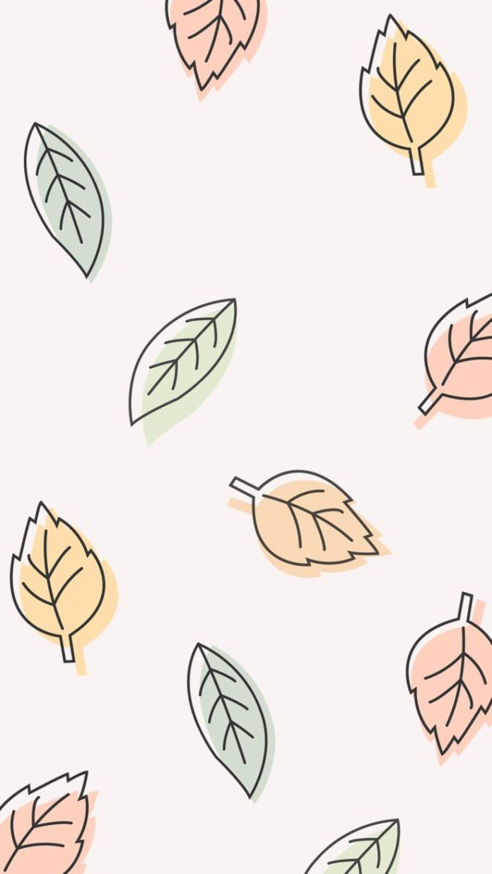 Fall leaves iPhone background
