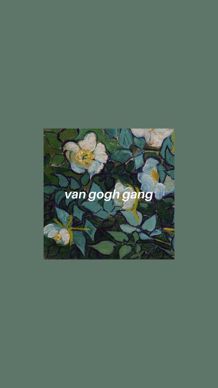 Iphone Wallpaper Green Van Gogh Art Hoe Iphone Wallpaper