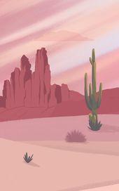 Cactus Desert Wallpaper | Wild West Design | MuralsWallpaper