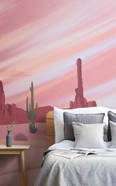 Cactus Desert Wallpaper | Wild West Design | MuralsWallpaper