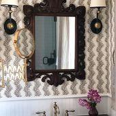 "Meredith Ellis on Instagram: ""A Master Bathroom update that incorporates a pair of 19th c antique mi"