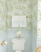 A Blue and Green Bathroom by Alexander Interiors - Katie Considers