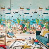 The Premier Destination for Stylish and Quality British Design   Products   Above And Below Wallpaper (HLTF112648)   Book Of Little Treasures   By Harlequin