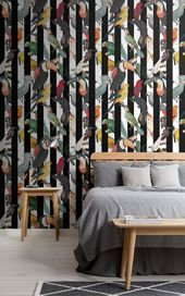 Exotic Bird Wallpaper | Tropical Design | MuralsWallpaper