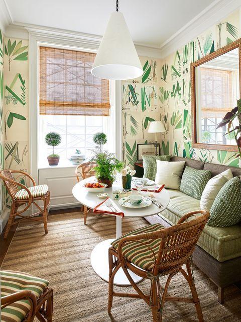 green botanical wallpaper