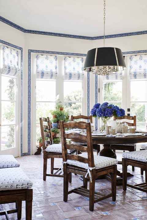 The Classic Blue-and-White Palette Gets a Vivid Twist in This California Coast Home by Mark D. Sikes