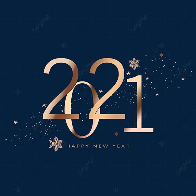 Layered Creative Hand Painted 2021 Tags, Gradient, Golden, Snowflake PNG Transparent Clipart Image and PSD File for Free Download