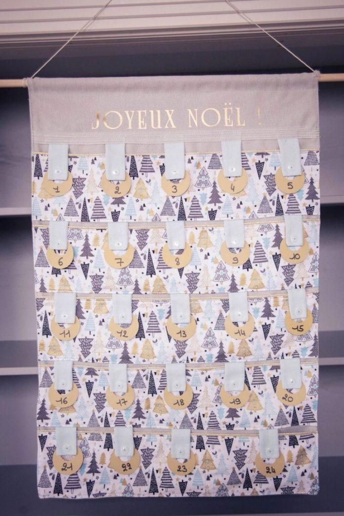 Coudre un calendrier de l'Avent en tissu pour attendre Noël version
