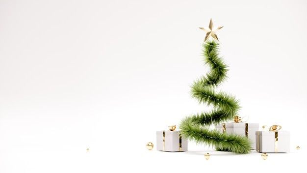 Happy New Year Background With Christmas Tree And Gifts