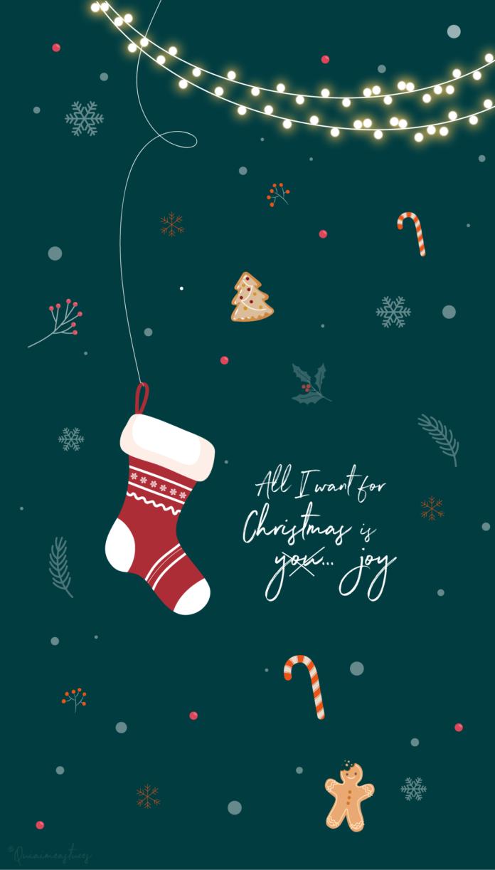Fond d'écran Noël All I want for christmas is... joy !