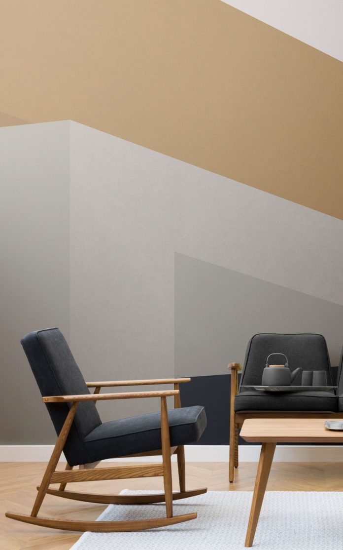 Modern Abstract Architecture Wall Mural | Hovia